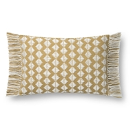 Magnolia Home by Joanna Gaines Gold & Ivory Pillow P1127 - Designer Pillow