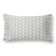 Magnolia Home by Joanna Gaines Grey & Ivory Pillow P1127 - Designer Pillow