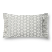 "Magnolia Home by Joanna Gaines 13"" x 21"" Saville Pillow Grey & Ivory - P1127"