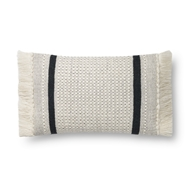 Magnolia Home by Joanna Gaines Ivory & Black Pillow P1128 - Designer Pillow