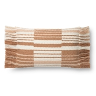 Magnolia Home by Joanna Gaines Terracotta & Ivory Pillow P1129 - Designer Pillow