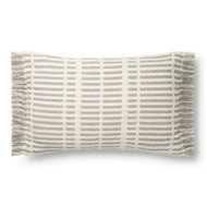Magnolia Home by Joanna Gaines Ivory & Grey Pillow P1131 - Designer Pillow