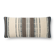 Magnolia Home by Joanna Gaines Blue & Natural Pillow P1132 - Designer Pillow