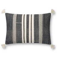 Magnolia Home by Joanna Gaines Navy & Ivory Pillow P1133 - Designer Pillow