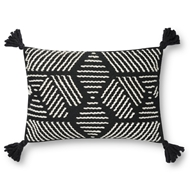 Magnolia Home by Joanna Gaines Black & Ivory Pillow P1134 - Designer Pillow