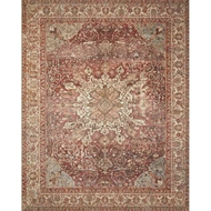 Magnolia Home Deven Rug - Bordeaux & Multi by Joanna Gaines
