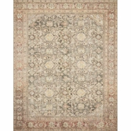 Magnolia Home Deven Rug - Charcoal & Blush by Joanna Gaines