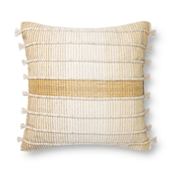 Magnolia Home by Joanna Gaines Natural & Gold Pillow P1136 - Designer Pillow