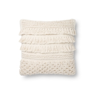 Magnolia Home by Joanna Gaines Ivory Pillow P1137 - Designer Pillow