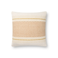 Magnolia Home by Joanna Gaines Gold & Multi Pillow P1138 - Designer Pillow