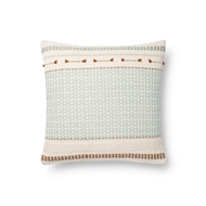 Magnolia Home by Joanna Gaines Light Blue & Multi Pillow P1138 - Designer Pillow