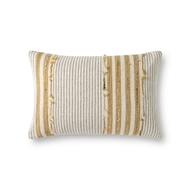 Magnolia Home by Joanna Gaines Natural & Gold Pillow P1139 - Designer Pillow