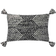 Magnolia Home by Joanna Gaines Black & Ivory Pillow P1143 - Designer Pillow