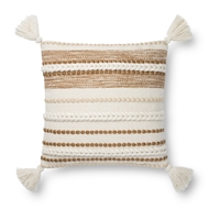 Magnolia Home by Joanna Gaines Natural & Copper Pillow P1144 - Designer Pillow