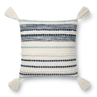 Magnolia Home by Joanna Gaines Natural & Navy Pillow P1144 - Designer Pillow