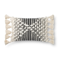 Magnolia Home by Joanna Gaines Ivory & Black Pillow P1145 - Designer Pillow