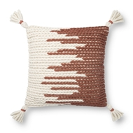 Magnolia Home by Joanna Gaines Natural & Spice Pillow P1146 - Designer Pillow