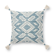 Magnolia Home by Joanna Gaines Blue & Natural Pillow P1147 - Designer Pillow