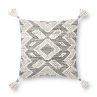 Magnolia Home by Joanna Gaines Grey & Natural Pillow P1147 - Designer Pillow