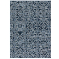 Magnolia Home Emmie Kay Rug by Joanna Gaines - Navy & Cream