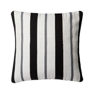 "Magnolia Home 22"" x 22"" Pillow Black & Grey - P0507 by Joanna Gaines"