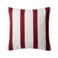 "Magnolia Home by Joanna Gaines 22"" x 22"" Pillow Red & Ivory - P0507"
