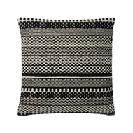 "Magnolia Home 22"" x 22"" Mikey Pillow Black & Ivory - P1033 by Joanna Gaines"