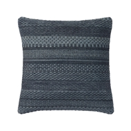 "Magnolia Home 22"" x 22"" Mikey Pillow Denim - P1033 by Joanna Gaines"
