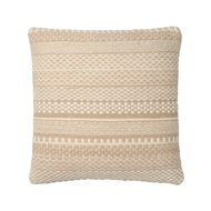 "Magnolia Home 22"" x 22"" Mikey Pillow Straw - P1033 by Joanna Gaines"