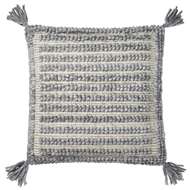 "Magnolia Home by Joanna Gaines 22"" x 22"" Annie Pillow Grey - P1036"