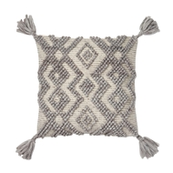 "Magnolia Home by Joanna Gaines 18"" x 18"" Karleigh Pillow Grey - P1037"