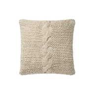 "Magnolia Home by Joanna Gaines 18"" x 18"" Adeline Pillow Beige - P1040"
