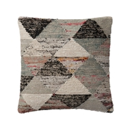 "Magnolia Home 22"" x 22"" Trinity Pillow Grey & Multi - P1043 by Joanna Gaines"