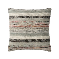 "Magnolia Home 22"" x 22"" Lindsay Pillow Grey & Multi - P1044 by Joanna Gaines"