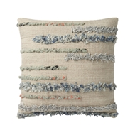 "Magnolia Home by Joanna Gaines 22"" x 22"" Harper Pillow Beige & Multi - P1045"