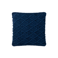 "Magnolia Home by Joanna Gaines 18"" x 18"" Taylor Pillow Navy - P1046"
