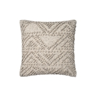 "Magnolia Home by Joanna Gaines 18"" x 18"" Eldon Pillow Grey - P1049"