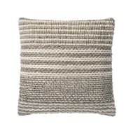 "Magnolia Home by Joanna Gaines 22"" x 22"" Barton Pillow Grey - P1050"