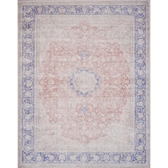 Magnolia Home Lucca Rug by Joanna Gaines - Terracotta & Blue
