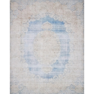 Magnolia Home Lucca Rug by Joanna Gaines - Lt. Blue & Sand