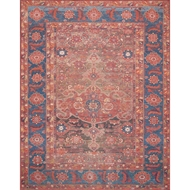 Magnolia Home Lucca Rug by Joanna Gaines - Rust & Blue