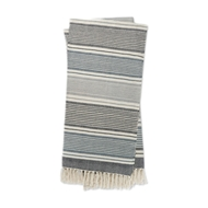 Magnolia Home Anna Navy & Ivory Throw Blanket by Joanna Gaines