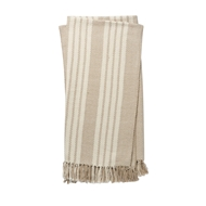 Magnolia Home Lora Beige & Ivory Throw Blanket by Joanna Gaines