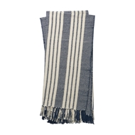 Magnolia Home Lora Navy & Ivory Throw Blanket by Joanna Gaines