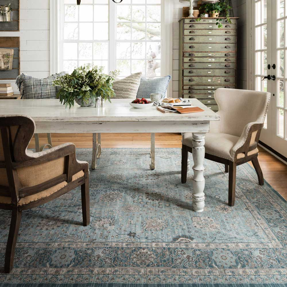 Magnolia Home Ella Rose Light Blue Dark Rug By Joanna Gaines