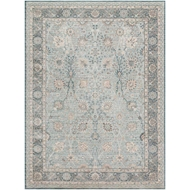 Magnolia Home Ella Rose Rug by Joanna Gaines - Lt Blue / Dk Blue