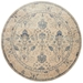 Magnolia Home Kivi Rug by Joanna Gaines - Ivory / Slate - Aerial Round