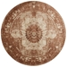 Magnolia Home Kivi Rug by Joanna Gaines - Sand / Rust - Aerial Round