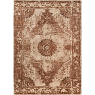 Magnolia Home Kivi Rug by Joanna Gaines - Sand / Rust