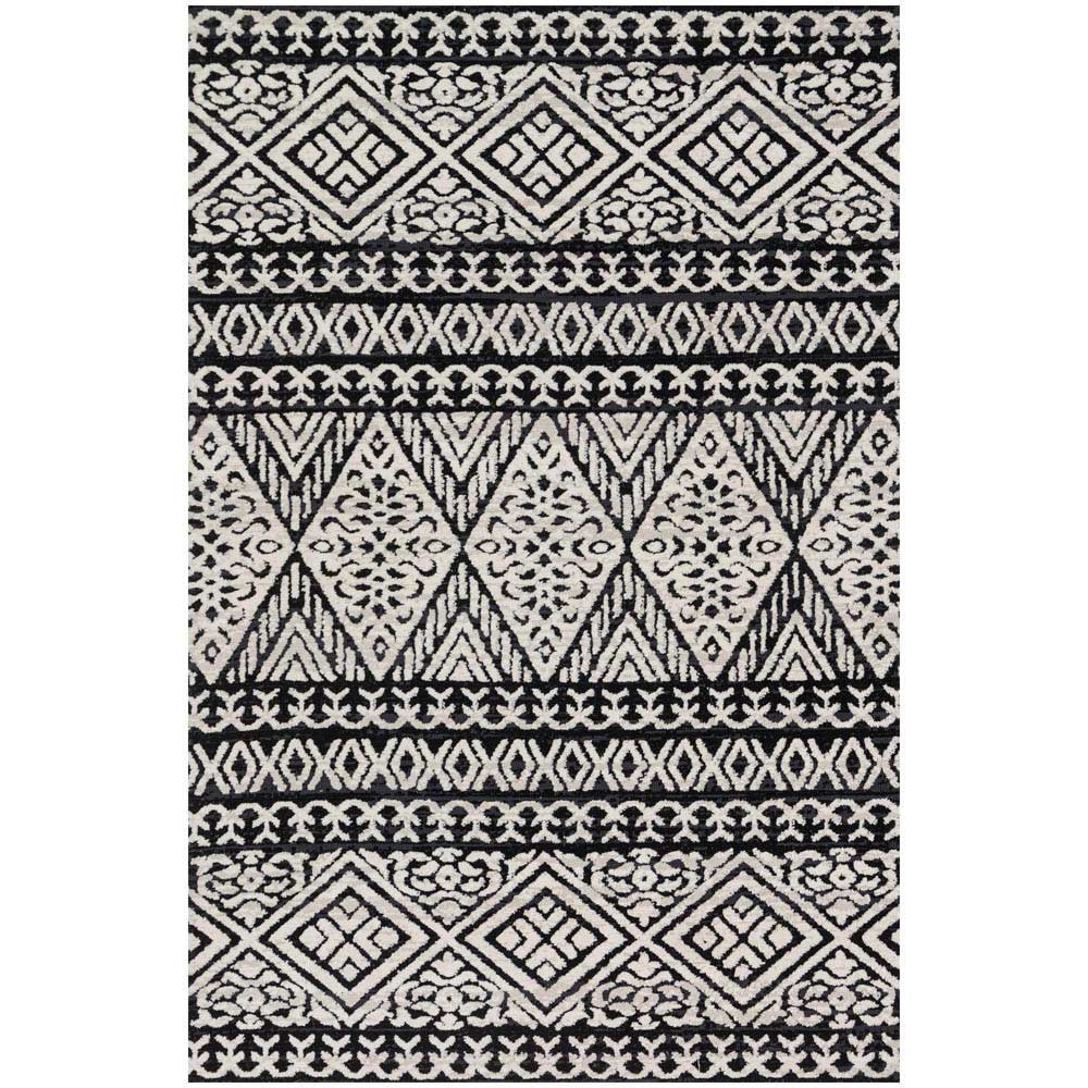 Great Magnolia Home Lotus Rug By Joanna Gaines   Black / Silver